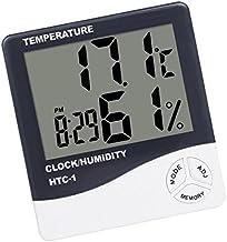 Despertador Digital 12/24 Horas Temperatura Pantalla LCD Estación Meteorológica
