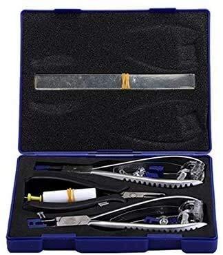 KJCHEN Home DIY Tool Set 3T Rimless Glasses Frame Silhouettes Eyeglass Optical Kit Plier Repair...