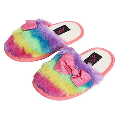 Nickelodeon JoJo Siwa Girls Slippers - Officially Licensed JoJo Siwa Girls Slippers (Multicolored, Small - Fits Shoe Sizes 11-12)