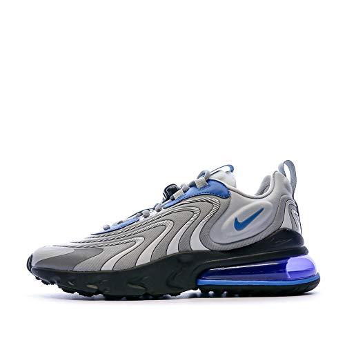 Nike Air Max 270 React ENG, Sneaker Uomo, Lt Smoke Grey/Battle Blue, 43 EU