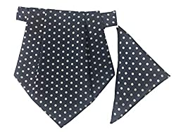Classique Enterprises Mens Cravat with Pocket Square (Navy Blue, Standard)