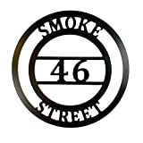 Personalized House Address Sign ACM Metal Street Number Gate Plaque QUICK SHIPPING - 18 inch