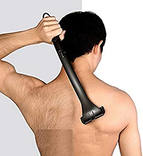 back SHAVER by WM: Men's Back Razor, Back Shaver, and Body Shaver with Collapsible Contoured Handle (New Flexible Design) - Replacement Blades Included