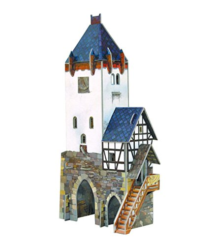 Umbum 201 Maßstab 1: 87 15 x 8 x 27 cm Clever Papier Mittelalter Town Guard Tower 3D Puzzle
