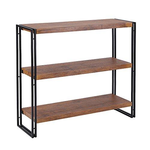 Homfa Bathroom Floor Cabinet Wooden Storage Organizer with Double Doors Adjustable Shelf Free Standing Kitchen Cupboard for Home Office, 19.6L x 11.8W x 36.2H, Cream White