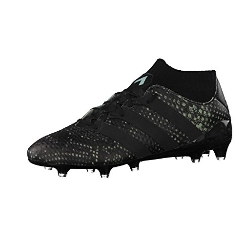 adidas Ace 16.1 Primeknit FG, Bota de fútbol, Vapour Green-Black, Talla 7 UK (40 2/3 EU) ⭐