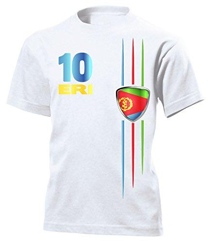 Eritrea Fanshirt Fussball Fußball Trikot Look Jersey Kinder Kids Unisex t Shirt Tshirt t-Shirt Fan Fanartikel Outfit Bekleidung Oberteil Hemd Artikel