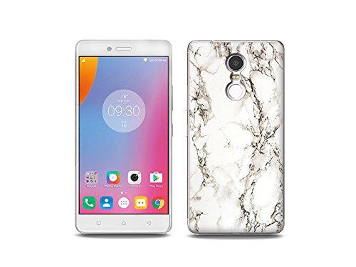 etuo Handyhülle für Lenovo K6 Note - Hülle Fantastic Hülle - Weißer Marmor - Handyhülle Schutzhülle Etui Hülle Cover Tasche für Handy