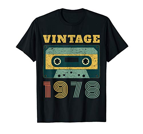 40th Birthday Gift Vintage 1978 Year Old Mixtape T-Shirt