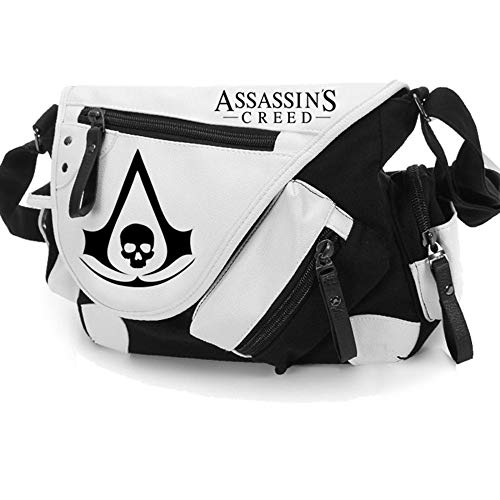 Lili Assassin'S Creed Canvas Shoulder Bag Anime Style Cosplay Message Sling Bag,A