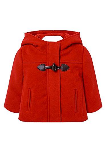 Mayoral 18-02489-076 - Dufflecoat für Baby - Mädchen 12 Monate (80cm) Rot