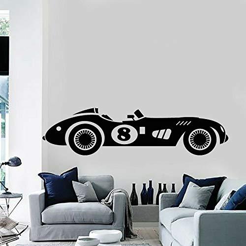 shiyueNB Vinyl Wand Applique Racing Retro Auto schnelle Muskel automatische echte Racing Aufkleber Hause Wohnzimmer Mode Dekoration schwarz 57x15 cm