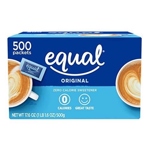 EQUAL 0 Calorie Sweetener, Sugar Substitute, Zero Calorie Sugar Alternative Sweetener Packets, Sugar Alternative, 500 Count