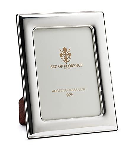 SEC OF FLORENCE 7180/13 x 18IT - Marco de fotos de plata maciza 925 con parte trasera de madera de caoba