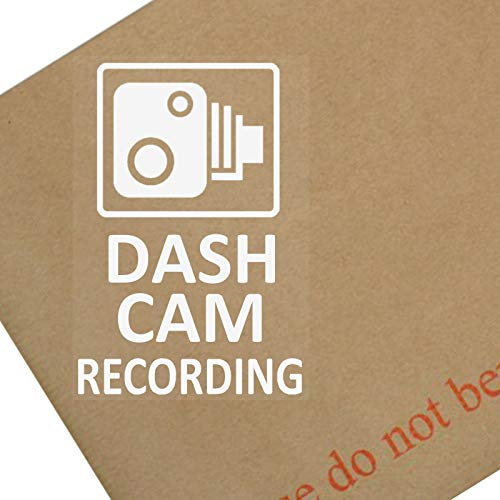 "4 x Autofenster-Aufkleber ""Dash Cam Recording"", 60x87mm, für Auto, Lkw, Transporter, Taxi, Mini, Bus, Go Pro"
