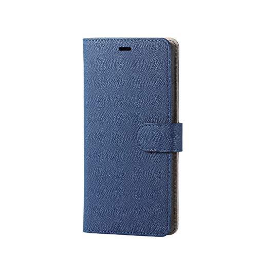 エレコム iPhone XR ケース 手帳型 レザー マグネットベルト付き サフィアーノ生地採用 ネ…