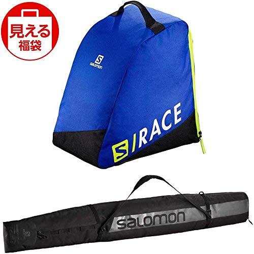 SALOMON(サロモン) スキーバッグセット オリジナル ブーツバッグ ブルーイエロー & オリジナル 1 ペアー スキースリーブ ブルーブラック