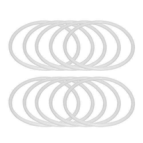 SUPVOX 20 Piezas Anillos de atrapasueños Aros de plástico macramé Anillos Aros para Suministros de Bricolaje Artesanal atrapasueños (11 cm)