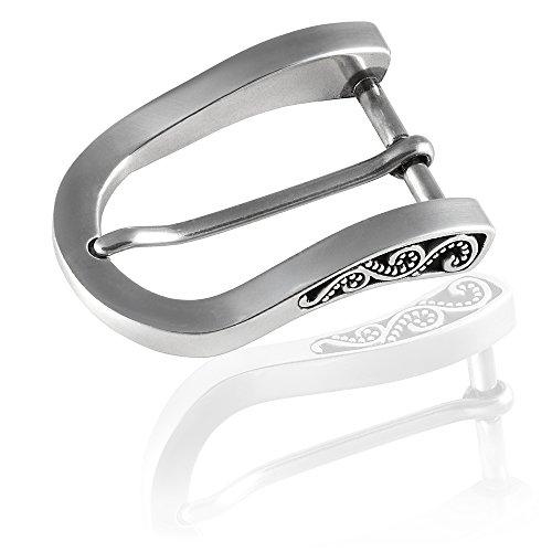 Gürtelschnalle Buckle 30mm Metall Silber Poliert - Buckle Sevilla - Dornschliesse Für Gürtel Mit 3cm Breite - Silberfarben Poliert