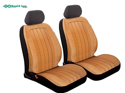RAPID LUX Flexo Vintage - Par de fundas para asientos delanteros para...
