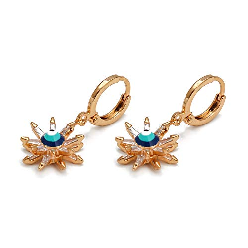 Blumenblau Türkische Augentropfen Ohrringe Gold Silber Farbe Kleine Baumel Ohrringe Modeschmuck Für Frauen Mädchen