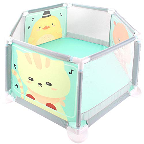unknow 11 sq ft Kitten Pattern Playpen With Mats with Breathable Mesh,6 Panel Baby Activity Gym for Breathable Mesh Kids Ball Pit Toddler Ball Pits Tent