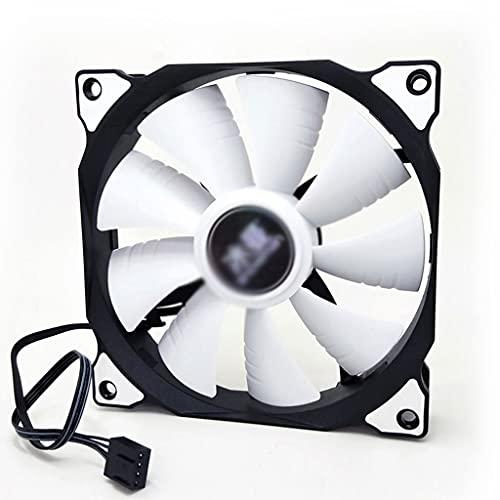 BWCGA 4 Pin 120mm Funda de la Caja de la computadora Silent 12 cm Ventilador de la CPU de enfriamiento RGB silencioso PC Cooler Fan Funda Fans 12V DC Ajuste Velocidad del Ventilador (Size : 3 Pcs)