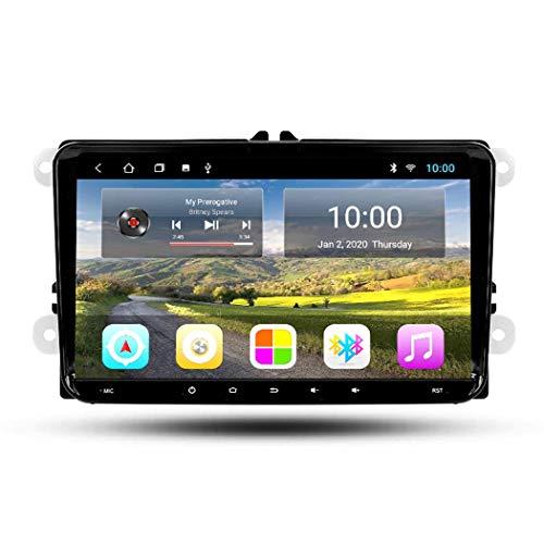 FDGBCF Estéreo de Coche Navegación GPS con Radio de Coche Android 10 RDS de 9 Pulgadas para VW Skoda Octavia Golf 5 6 touran Passat B6 Polo Universal