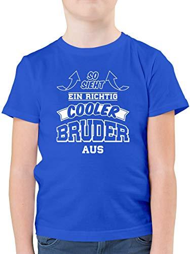 Geschwister Bruder - So Sieht EIN richtig Cooler Bruder aus - 116 (5/6 Jahre) - Royalblau - Geburtstag Jungen 10 Jahre - F130K - Kinder Tshirts und T-Shirt für Jungen
