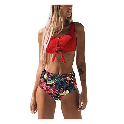 Bikinis Mujer 2020 Push Up Sexy Patchwork Traje de baño de Dos Piezas Acolchado Bra Tops y Braguitas Bikini Sets Talla Grande Bañador Vacaciones riou