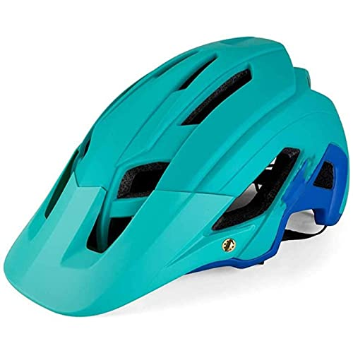 SONG Mountain Bike Helmet, Easy Attached Comfortable Lightweight Breathable Adjustable head circumference Anti-Shock Anti-Fall For Road Mountainn Cycling Adult Men Women,B