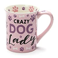 Crazy Dog Lady Purple Paw Prints 16 Ounce Ceramic Coffee Mug [並行輸入品]