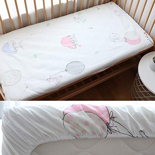 DXSERCV Mattress protector Crib Sheet For Newborns Pure Cotton Cot Mattress Cover Protector For 130X70Cm Allow
