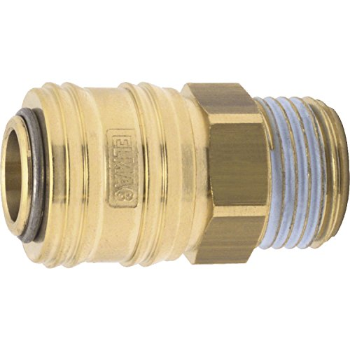 ELMAG 42302 Euro Druckluft Kupplung aus Messing mit Außengewinde 3/8