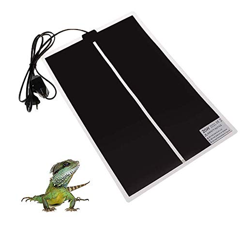 KABASI Reptile Heating Pad, 20W 16.5x11 inch Waterproof Reptile Heat Pad Under Tank Terrarium with Temperature Control, Safety Adjustable Reptile Heat Mat for Turtle, Tortoise, Snakes, Lizard, Gecko