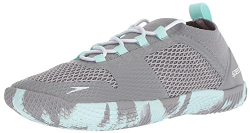 Speedo Women's Water Shoe Fathom AQ Athletic, heather grey, 5