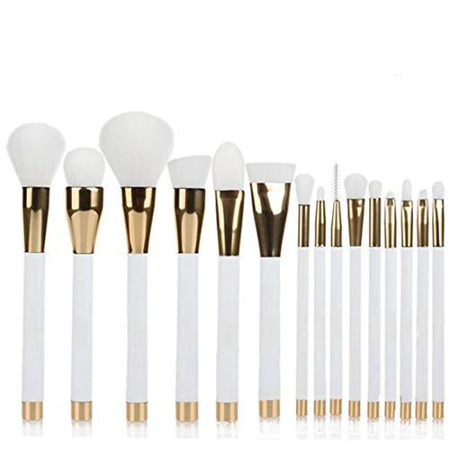 Hexiaoyi Gradient Makeup Brush Tool Make-up Toiletry Kit Fiber Cosmetic Brush Set Tools (Color : White)