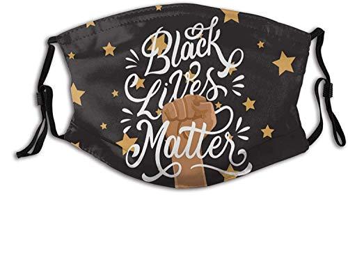 Black Lives Matter Face Mask Anti Dust Mouth Balaclava for Women Men Adult & Teens-Black Lives Matter10