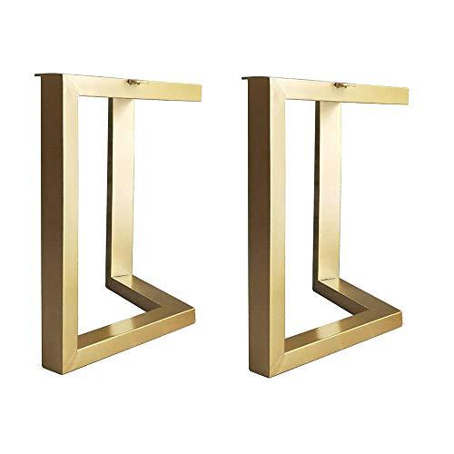 Furniture legs Möbelfüße Aus Metall, Tischbeine Stützbein Kaffeetischbeine,schmiedeeisen Esstisch Bar Beine,Lagergewicht 500kg, Schwarz/Gold