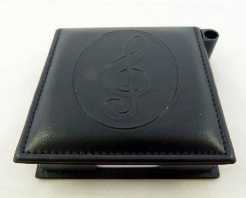 Musica a tema Leather-like Memo Pad con portapenne - Interi Treble Clef design