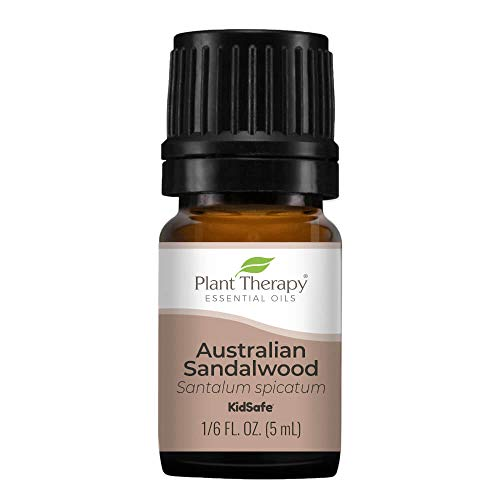 Plant Therapy Sandalwood Australian Essential Oil | 100% Pure, Undiluted, Natural Aromatherapy, Therapeutic Grade | 5 Milliliter (1/6 Ounce)