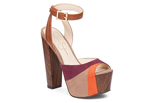 Jessica Simpson Women's Dimaya Platform Dress Sandal Totally Taupe Shoe...