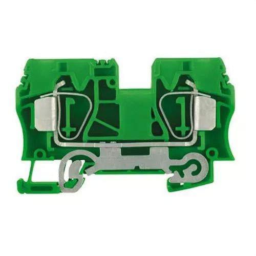 Walther 1746770000 ZPE 10 Erdungsklemme Direktverbindung, grün/gelb, 10 mm2, 1200 A, 25 Stück