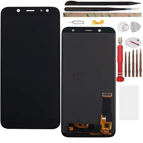 """YHX-OU 5.60"""" per Samsung Galaxy A6 2018 A600 di Riparazione e Sostituzione LCD Display Touch Screen Digitizer con Utensili Inclusi+1 Pezzo Vetro temperato (Nero)"""