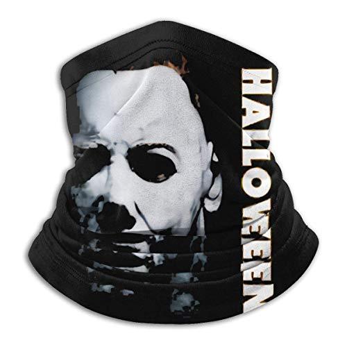 HRFKJYXG Halloween Michael Myers Logo Nahtlose winddichte staubdichte Bandana Neck Gaiter Gesichtsbedeckung