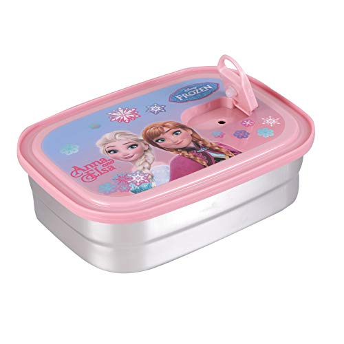 Gaysons Cartoon Character Stainless Steel Kids Lunch Box with Spoon & Mini Salad Box (Pink)