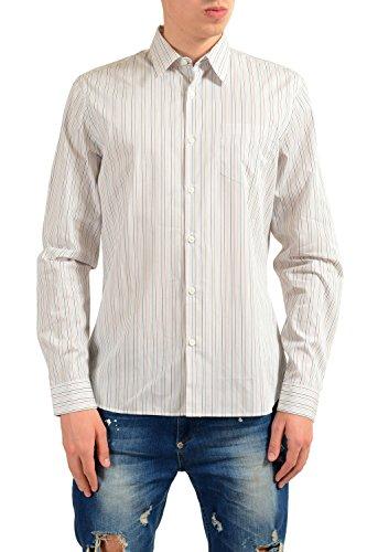 Prada Men's Striped Long Sleeve Dress Shirt Size US 15.75 IT 40