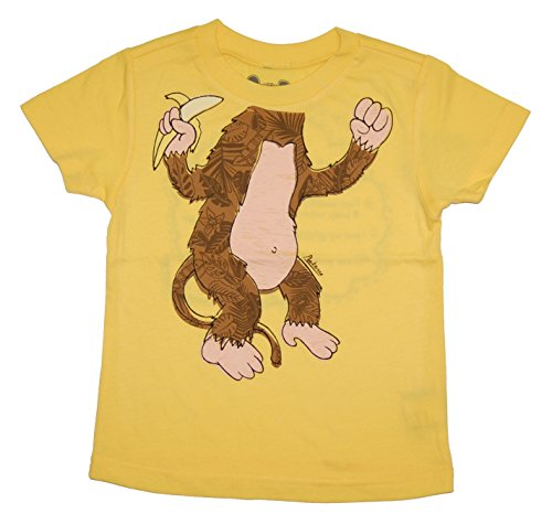 Peek-A-Zoo Toddler Become an Animal Short Sleeve T Shirt - Monkey Yellow (4T)