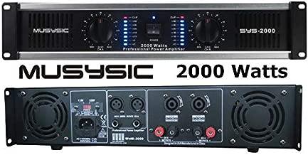 2 Channel 2000 Watts Professional DJ PA Power Amplifier 2U Rack mount SYS-2000 MUSYSIC