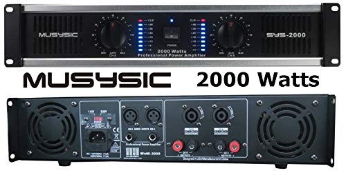 of dj tech dj amps dec 2021 theres one clear winner 2 Channel 2000 Watts Professional DJ PA Power Amplifier 2U Rack mount SYS-2000 MUSYSIC